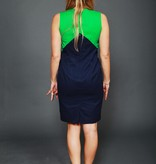 Color blocking 80s dress