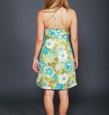 Floral 70s halter dress