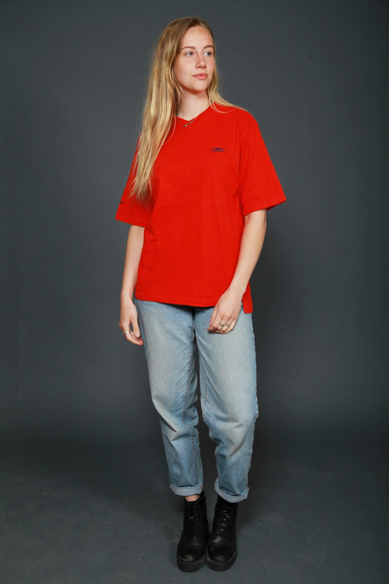 Red 90s Umbro shirt