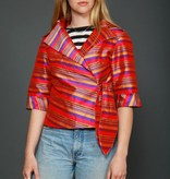 Classy 80s jacket with striped print
