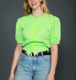 Green 70s stretch top