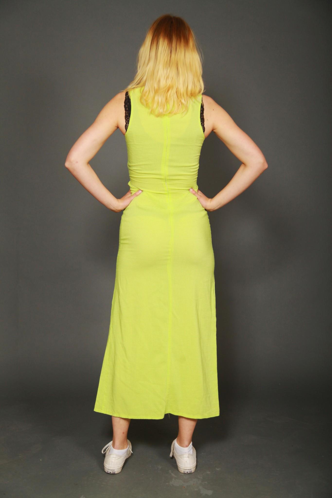 Green 90s maxi dress