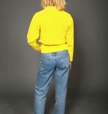 Yellow 80s jumper with all-over print