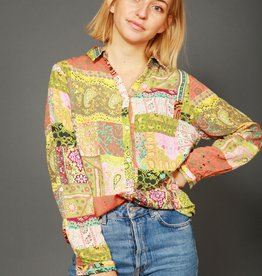 Patchwork 90s blouse