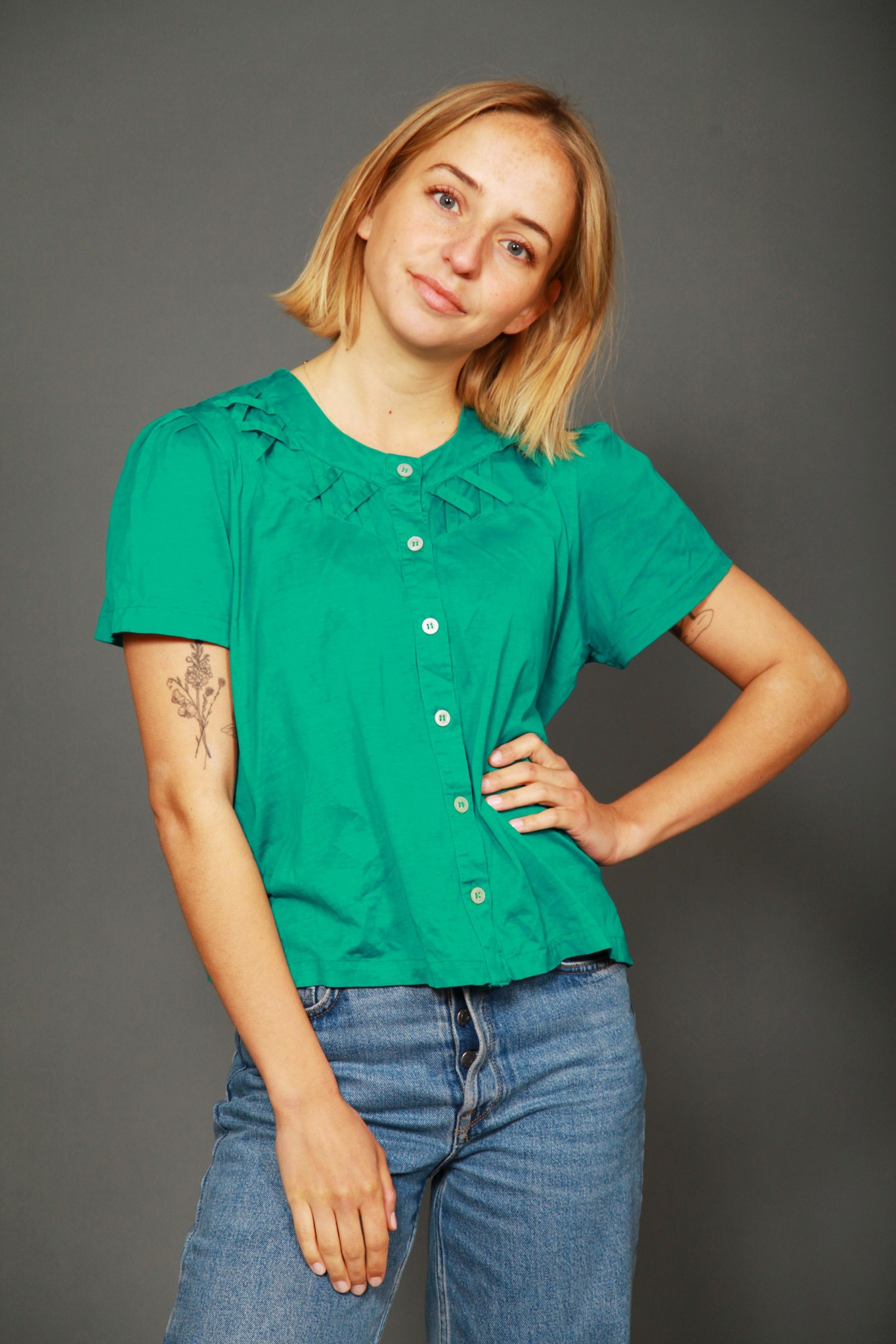 Colorful 80s top