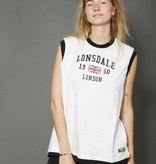 Australian 90s polo shirt - CopySleeveless Lonsdale shirt in white