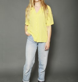 Yellow polka dot top