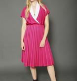 80s pleated dress in purple