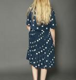Classy 80s polka dot dress