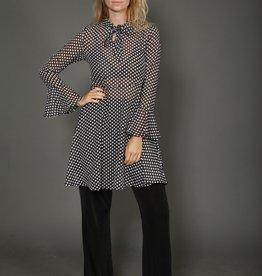Semi-sheer polka dot dress