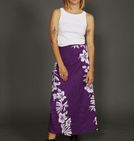 Purple 90s wrap skirt