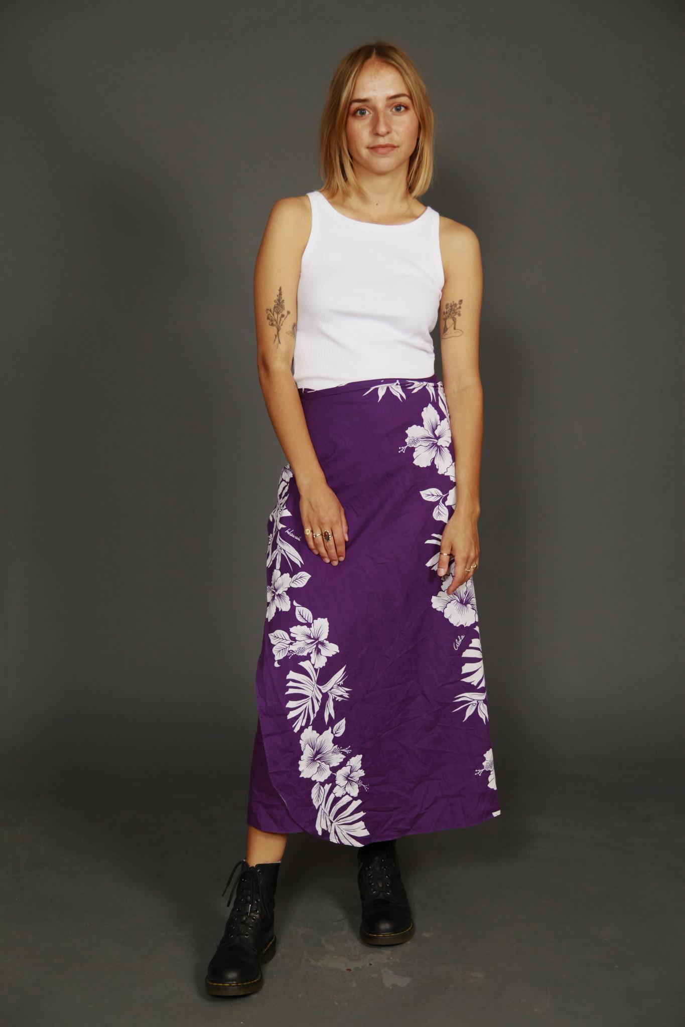 Purple 90s wrap skirt