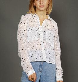 Pimkie 90s shirt with polka dot print