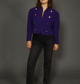 Cropped 80s jacket in purple