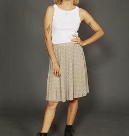 Pleated polka dot skirt