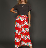 Floral 90s wrap skirt