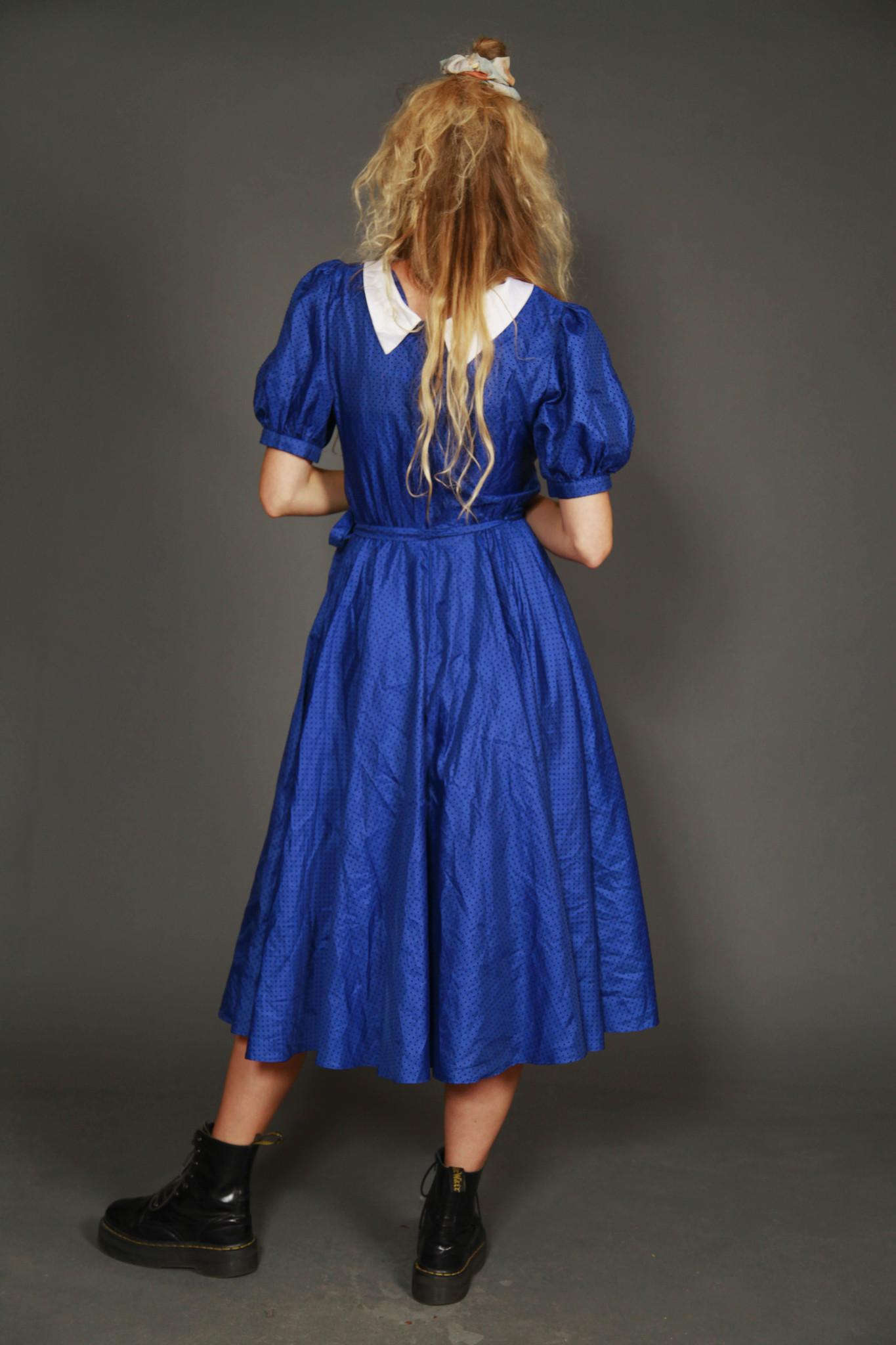 Blue 80s prom dress