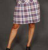 Plaid pleated 70s skirt