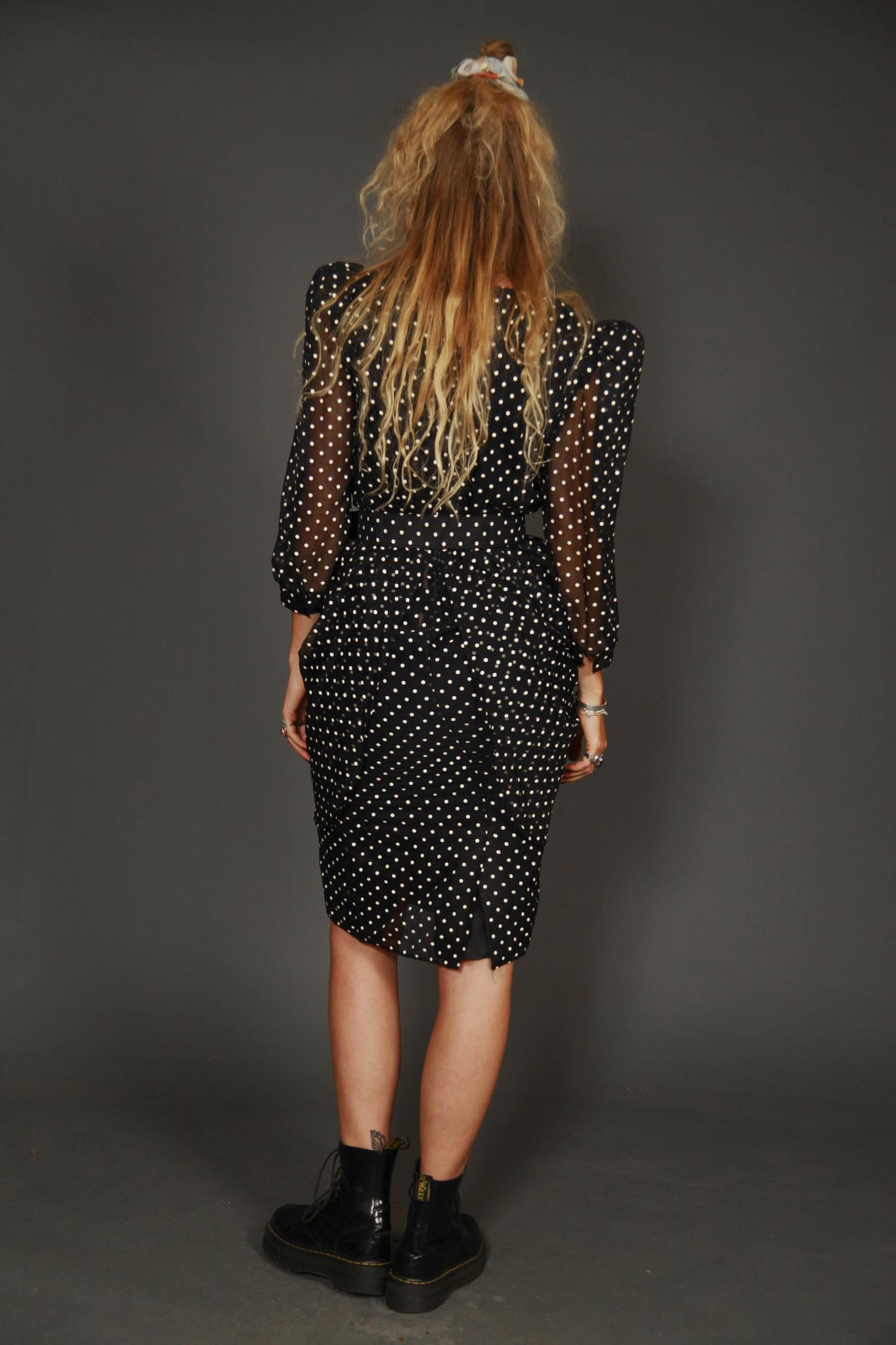 Black 80s prom dress