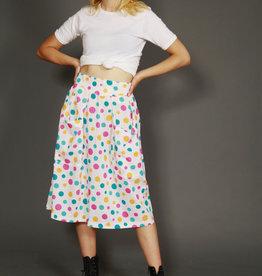 High waist 80s skirt