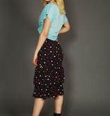 High waist 80s skirt in black