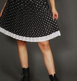 Elastic polka dot skirt