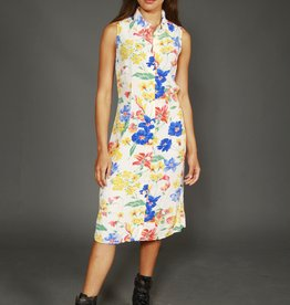 Floral 90s dress with tie waist