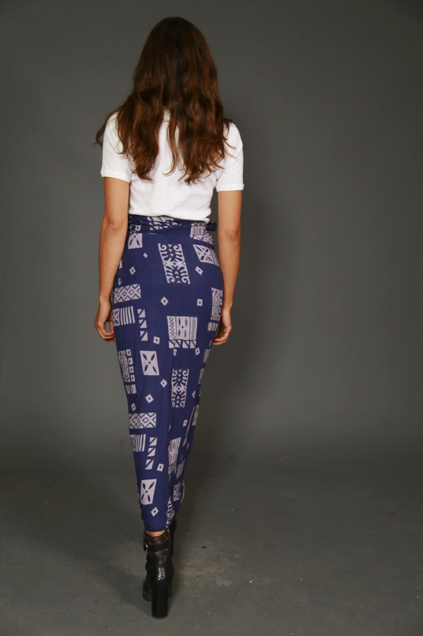 Blue 90s wrap skirt