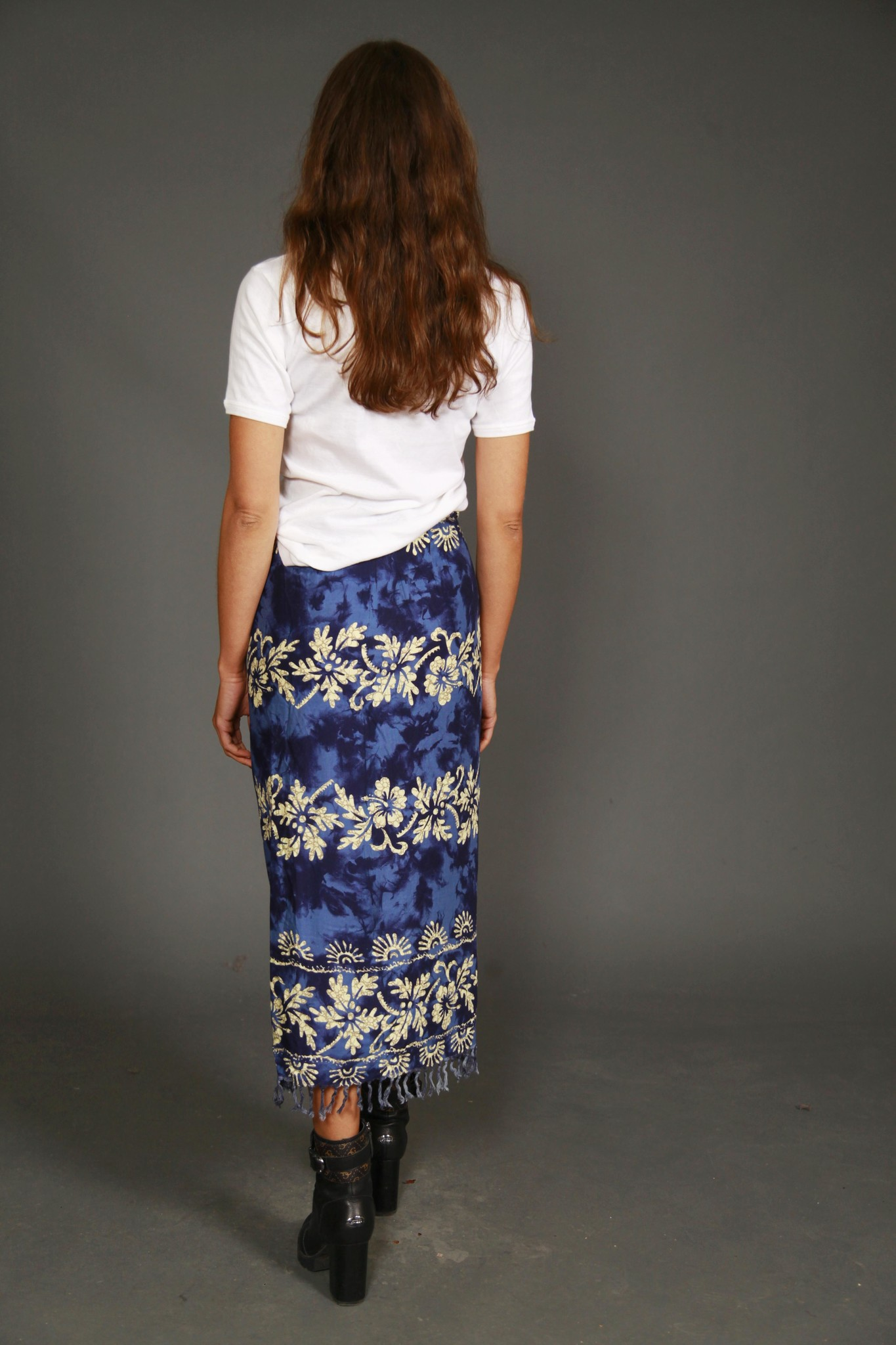 Blue 90s wrap skirt