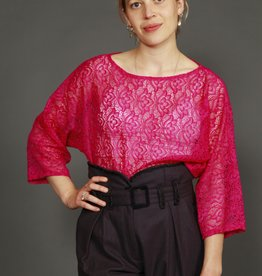 Fun 90s lace top in purple