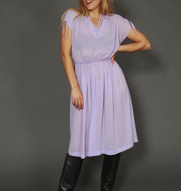 Purple 80s dress