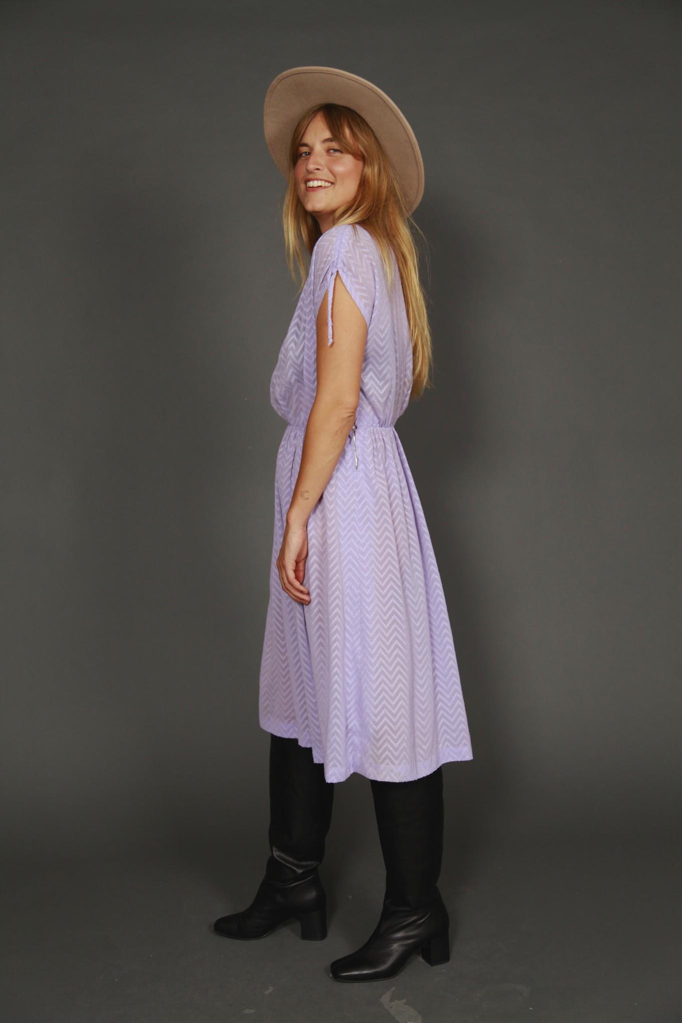 Purple 80s dress