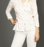 Floral 90s blouse in white