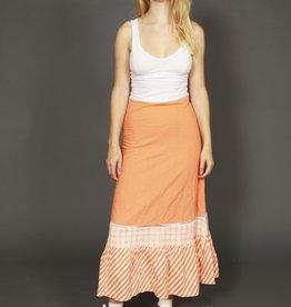 Orange 70s maxi skirt