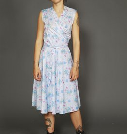Wrapped front 70s dress