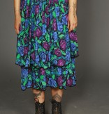 Floral 80s skirt with elastic waist
