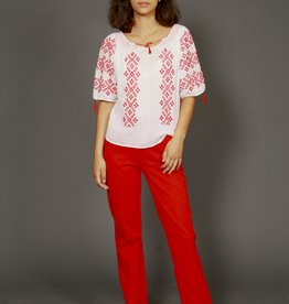 Classic 90s trousers in red