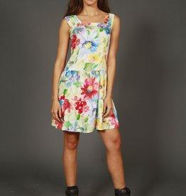 Floral 80s mini dress