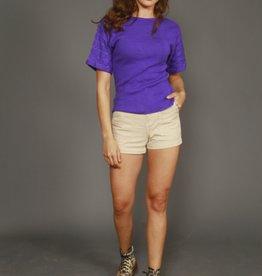 Purple 80s stretch top