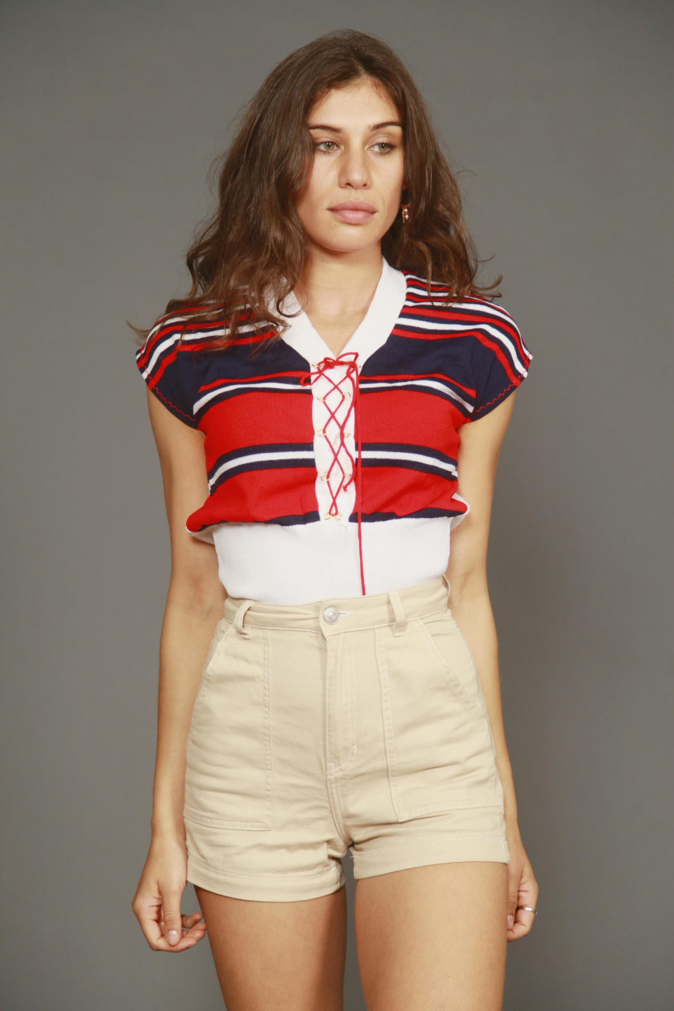 Striped 80s top
