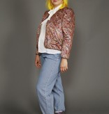 80s padded satin jacket with paisly print