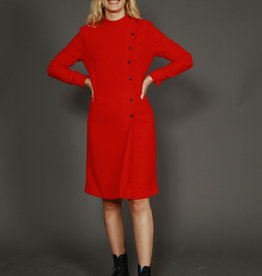 Red 80s winter dress