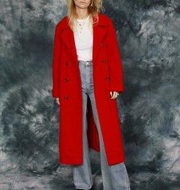 Red 80s winter coat