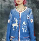 Blue Christmas cardigan