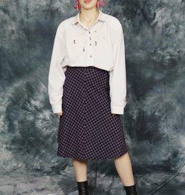 Classy printed skirt in wool