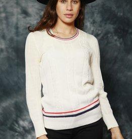 Classic jumper in white