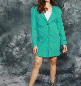 Turquoise 80s dress