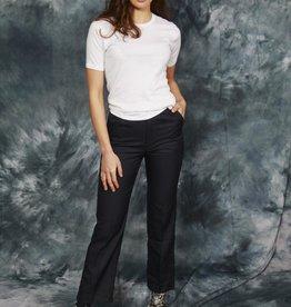 High waist trousers in black