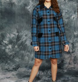 Blue 80s winter dress