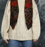 Beautiful 80s waistcoat with floral print